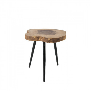 Table d'appoint en palissandre massif Clay