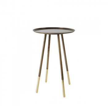 Table d'appoint vintage en laiton Eliot