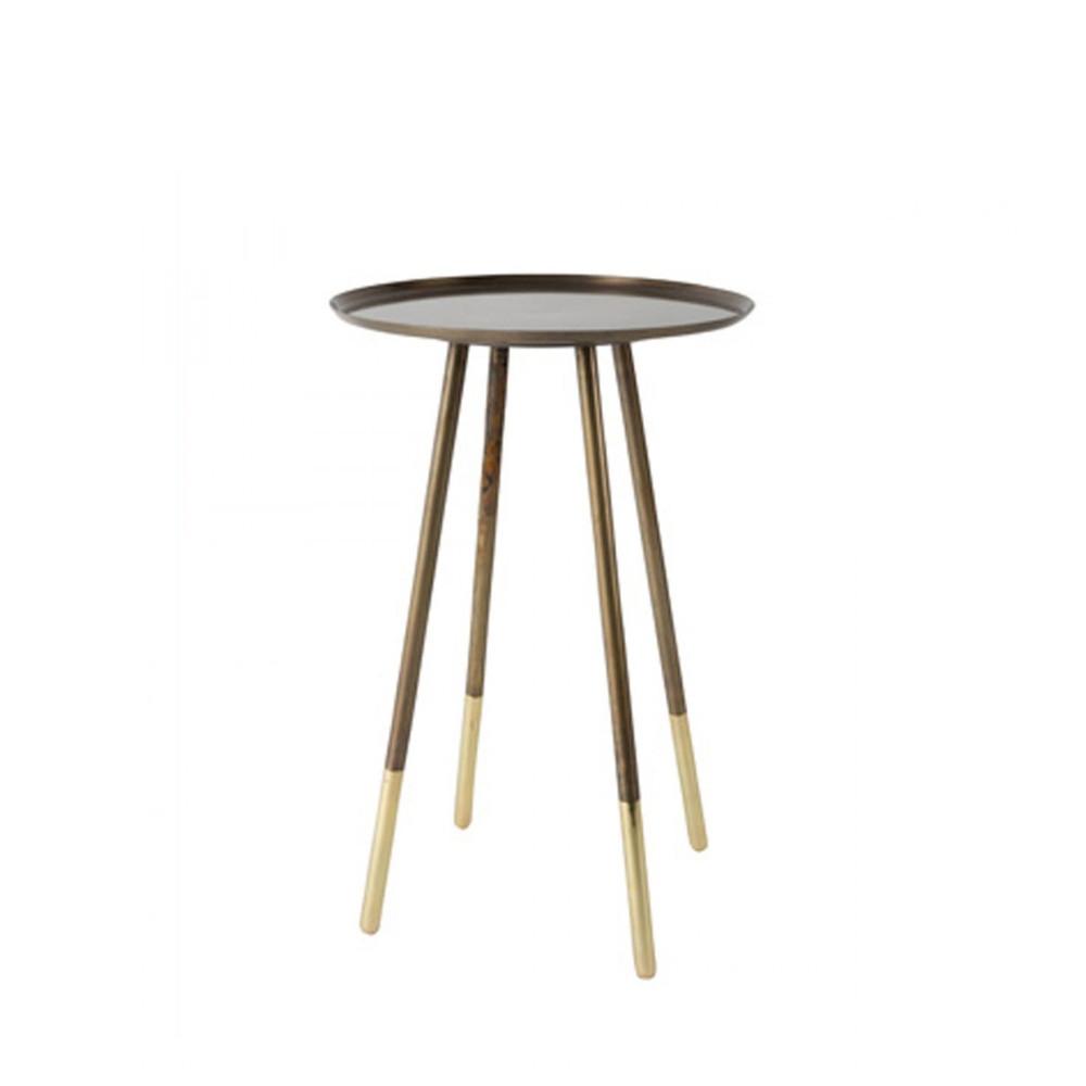 table d 39 appoint vintage en laiton eliot par. Black Bedroom Furniture Sets. Home Design Ideas