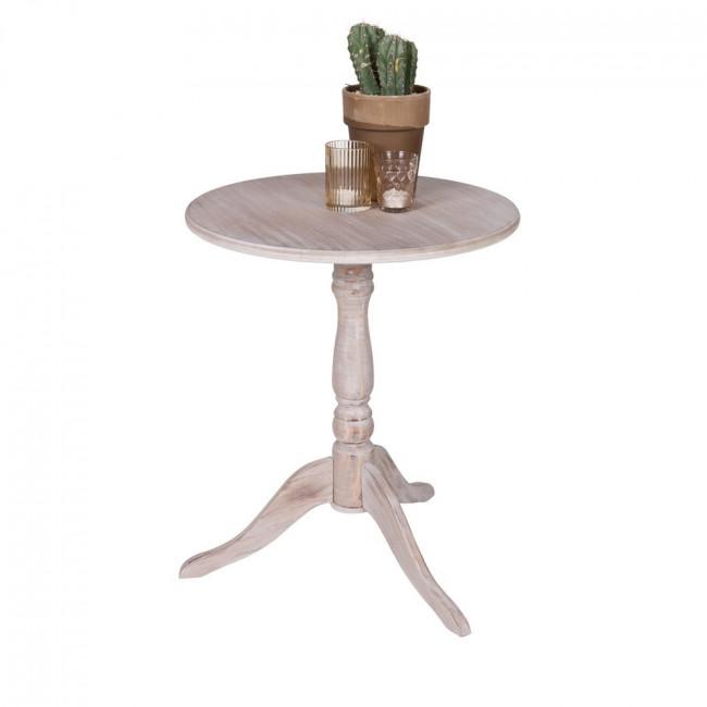 Table basse vintage blanc Ivy