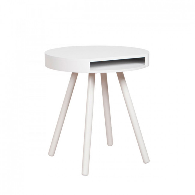 Table d'appoint vide-poche Hide & Seek jaune