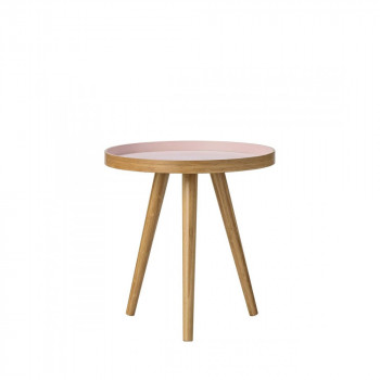 Table d'appoint bambou scandinave bicolore Chai