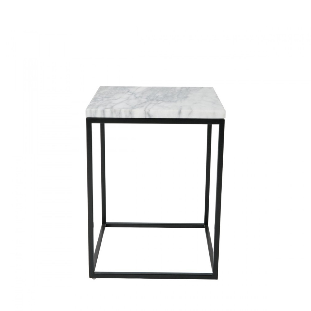 table d 39 appoint carr e marble power par. Black Bedroom Furniture Sets. Home Design Ideas