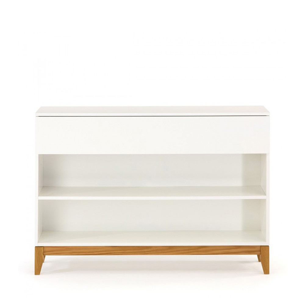console pratique scandinave blanco par. Black Bedroom Furniture Sets. Home Design Ideas