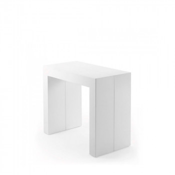 Table console extensible laquéŽe blanche 45-200 Penta