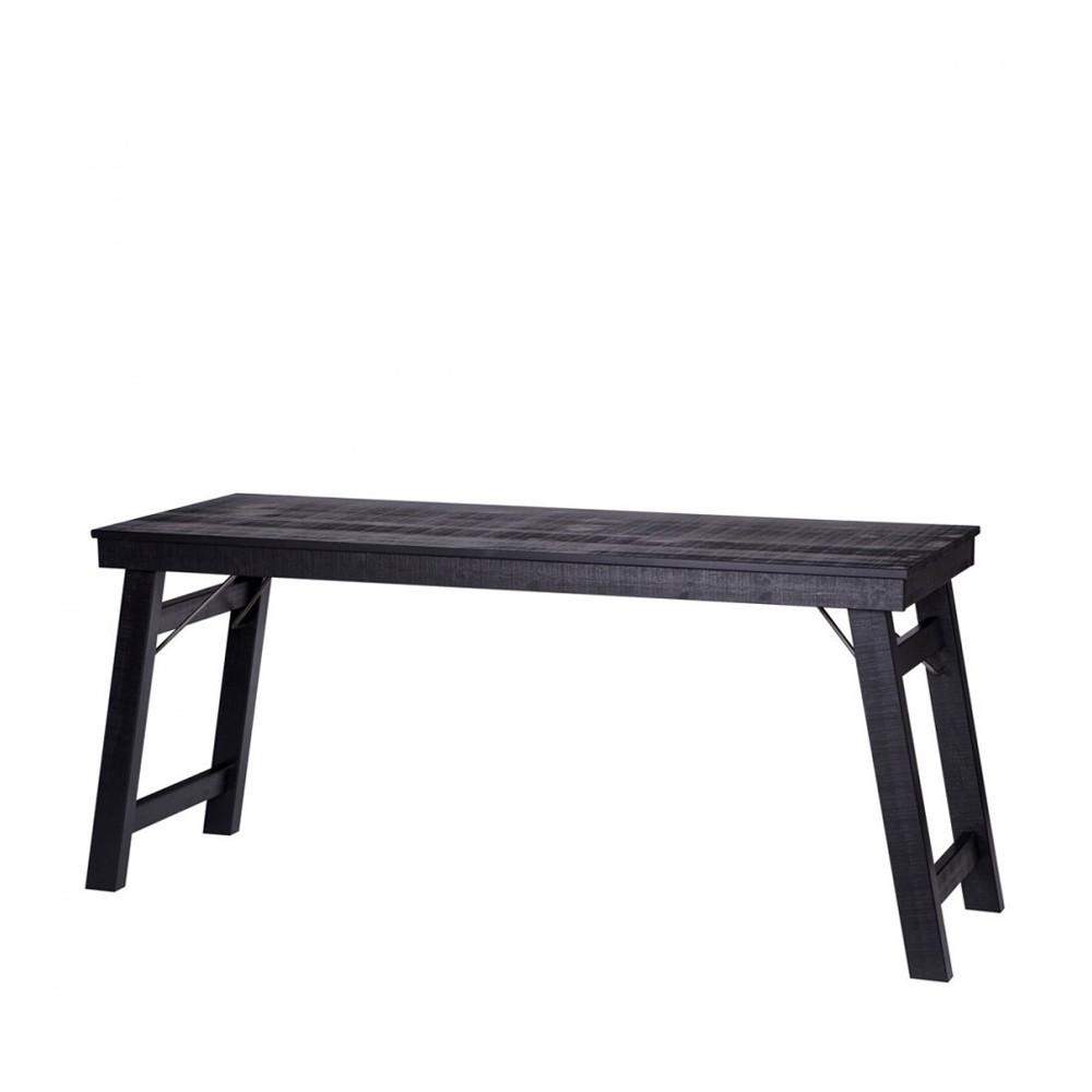 Bureau Console Bois - Bureau console en bois noir Stevenson par Drawer fr