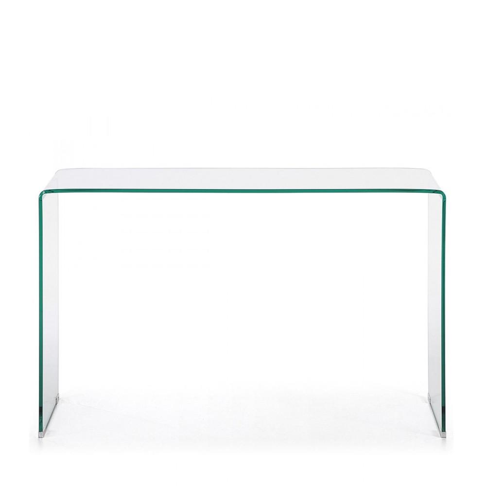 Console en verre cintré transparent - BURANO