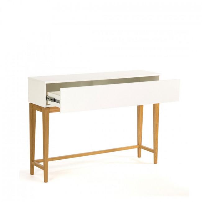 Console design scandinave 1 tiroir Blanco