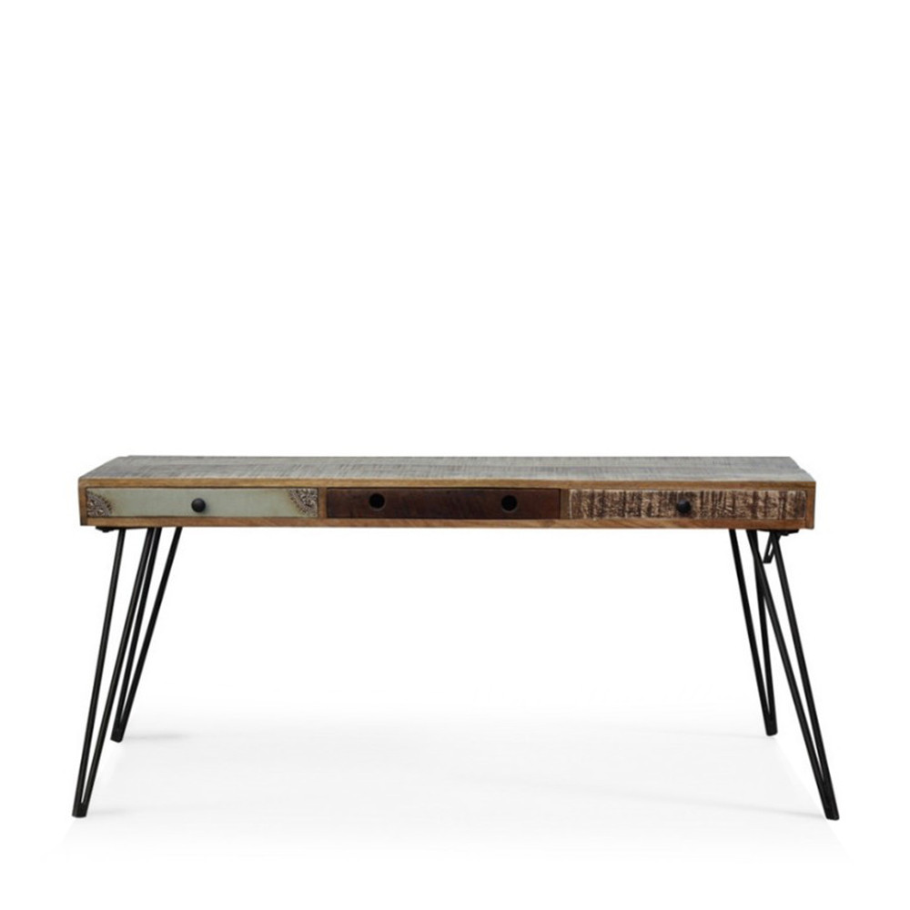 console vintage en bois 3 tiroirs gamme fusion by drawer. Black Bedroom Furniture Sets. Home Design Ideas