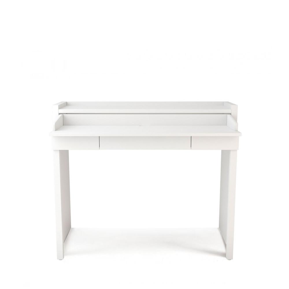 Console bureau extensible 16 mel drawer for Meuble bureau extensible