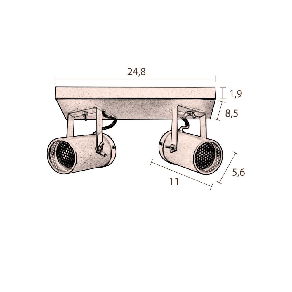 Plafonnier industriel double scope dutchbone drawer for Plafonnier style industriel