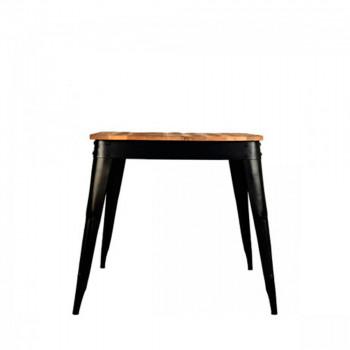 Table à manger bois 75x75cm Luik