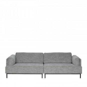 Canapé 3 places tissu et métal Uma Gris