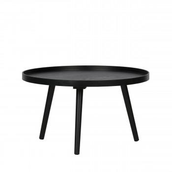 Table d'appoint ronde bois L Mesa noir
