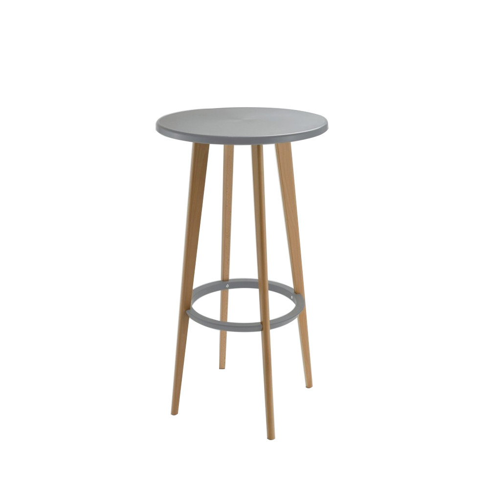 Table de bar ronde design blanche harry 39 s by drawer - Table haute laquee blanche ...