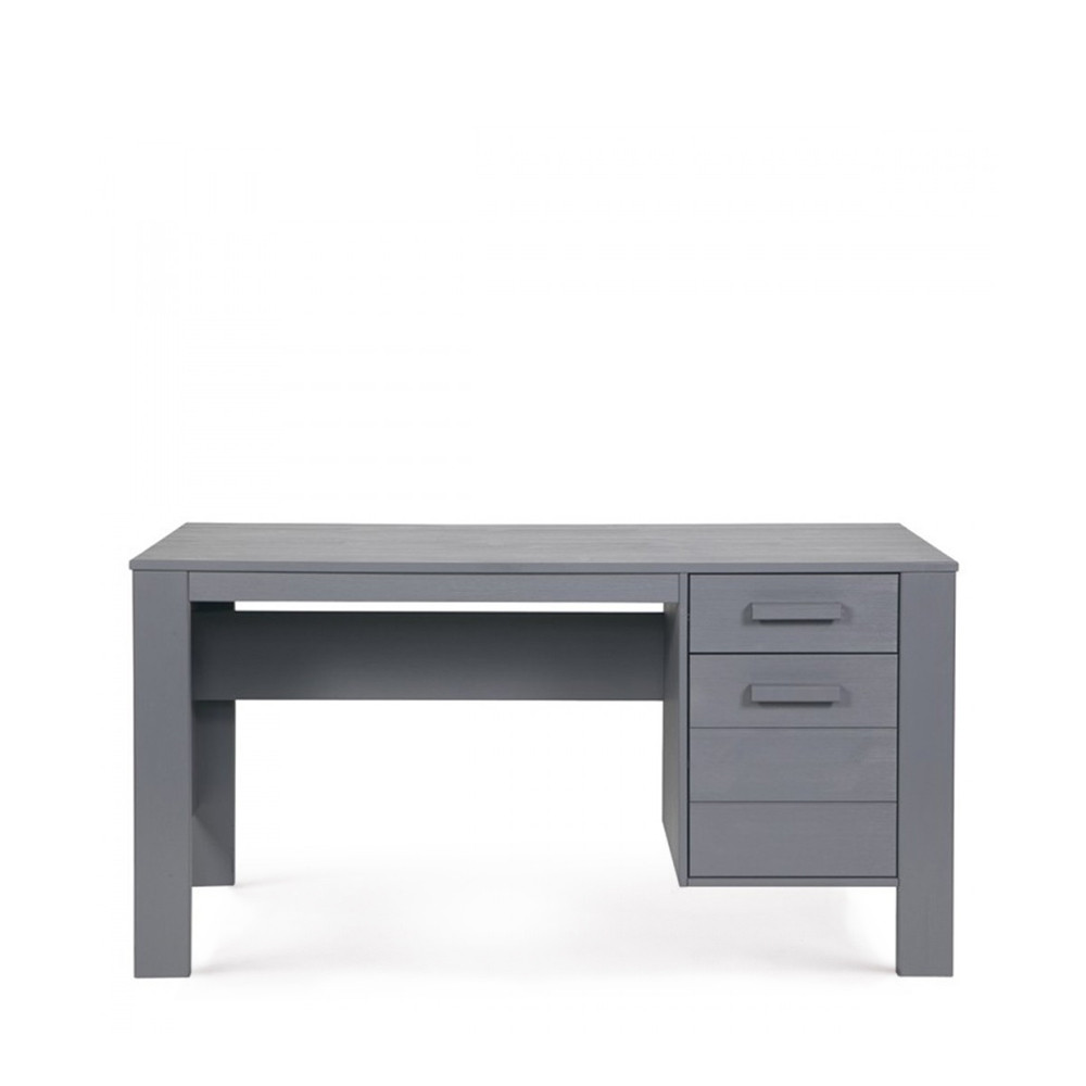 Bureau en pin bross denis par for Mobilier de bureau denis