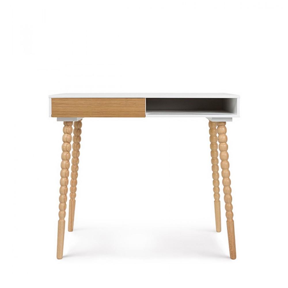 bureau scandinave bois blanc. Black Bedroom Furniture Sets. Home Design Ideas