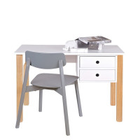 bureau enfant pin massif blanc tipi by drawer. Black Bedroom Furniture Sets. Home Design Ideas