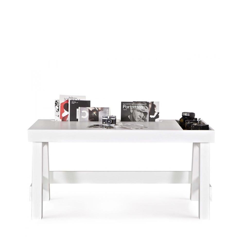 bureau en bois rangement groove par drawer