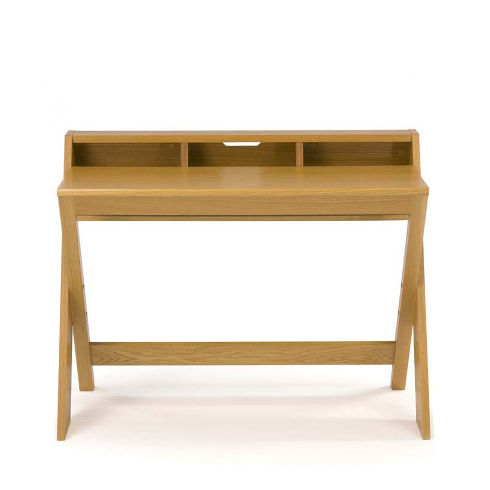 Bureau design bois massif ravenscroft par for Table de bureau design