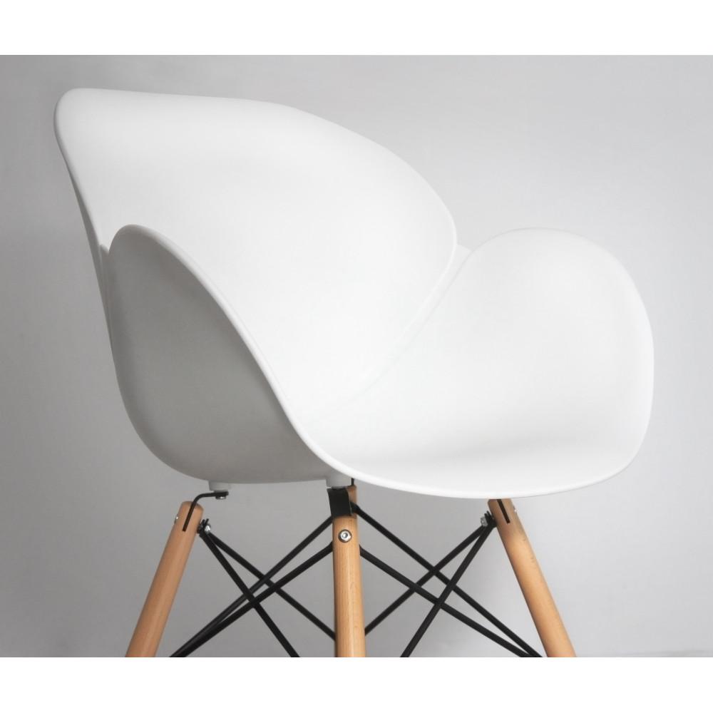 Chaise design bois & résine Ki-Oon par Drawer