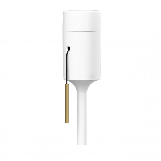 Pied de lampadaire Champagne Blanc