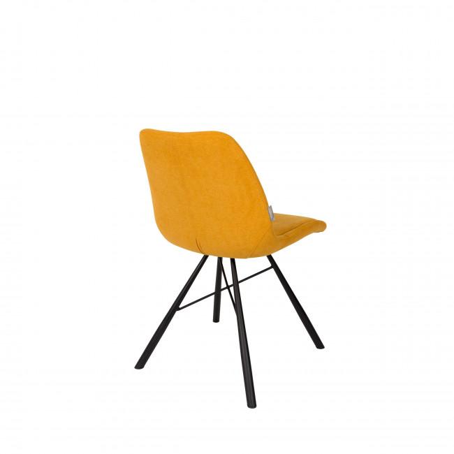Lot de 2 chaises tissu Brent Zuiver