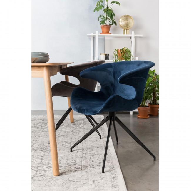 Lot de 2 fauteuils velours design Mia Zuiver