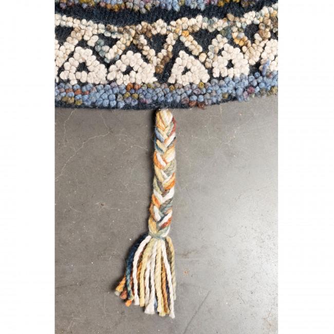 Tapis rond en laine et coton Pix Dutchbone