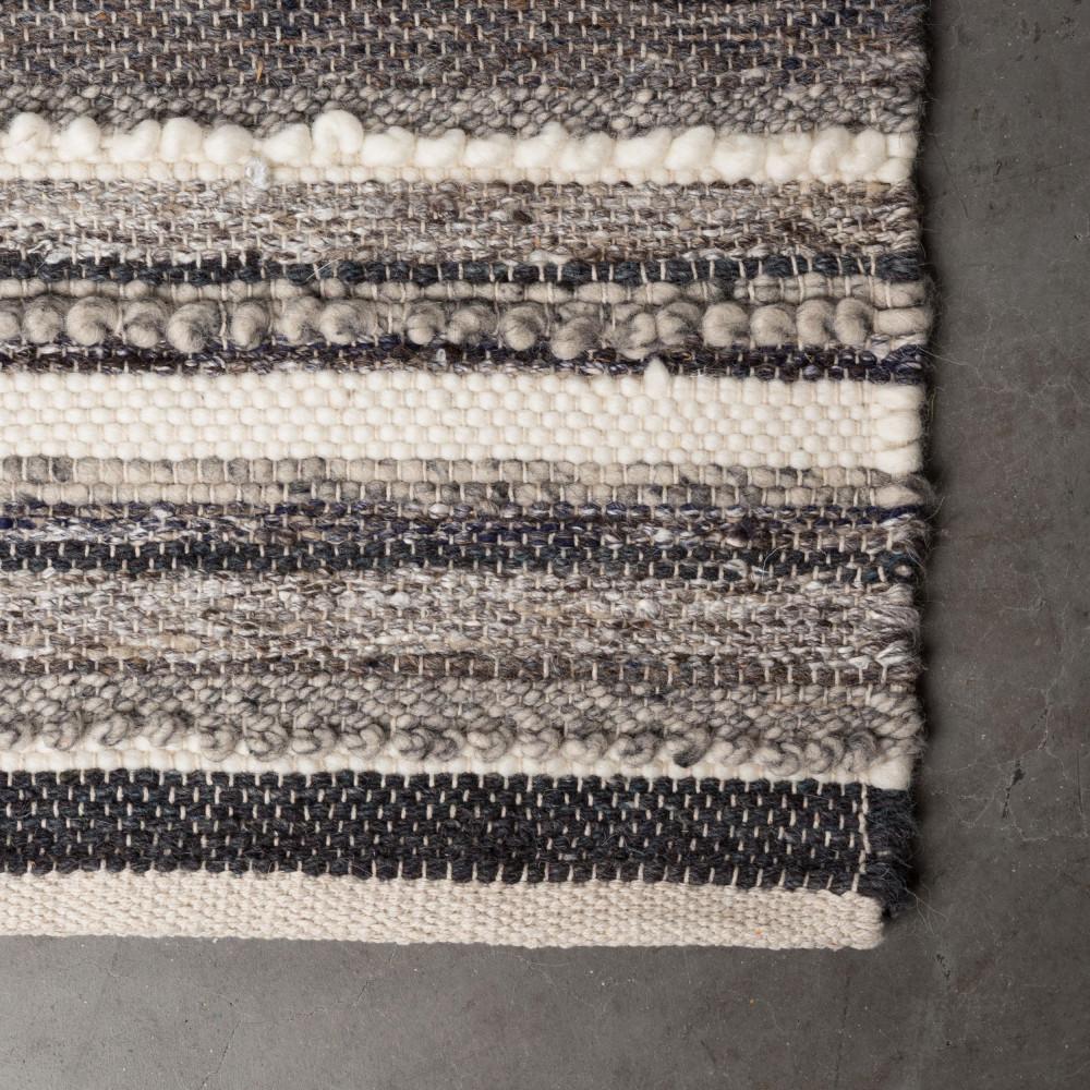 tapis gris tiss la main carve dutchbone - Tapis Gris