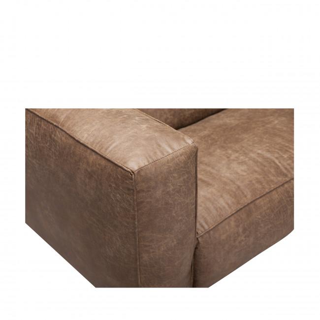 Canapé 2,5 places cuir et métal Montreal