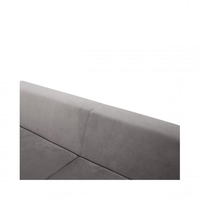 Canapé 2 places tissu et métal Duran