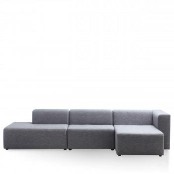 Canapé d'angle droit tissu Kixx