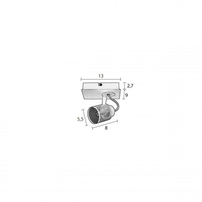 Applique/Plafonnier métal Sandy