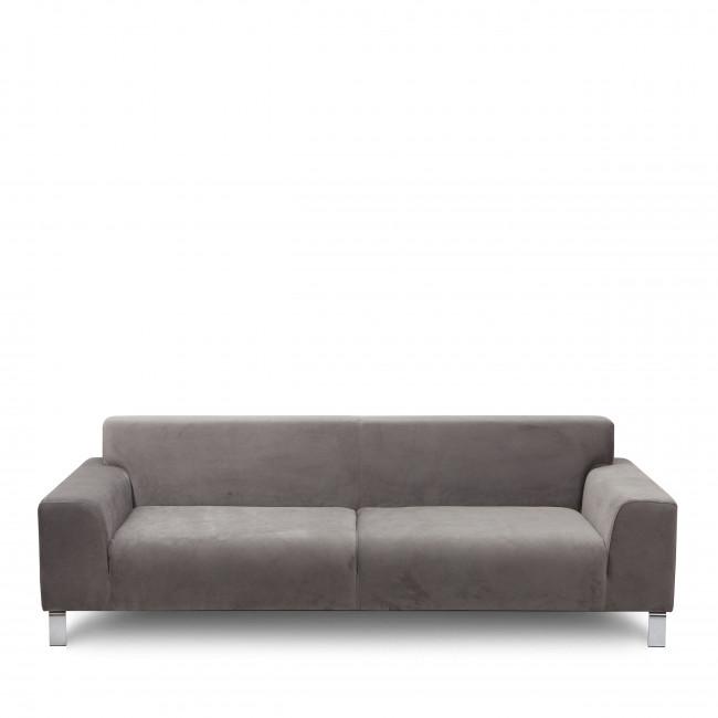 Canapé 3 places tissu et métal Duran