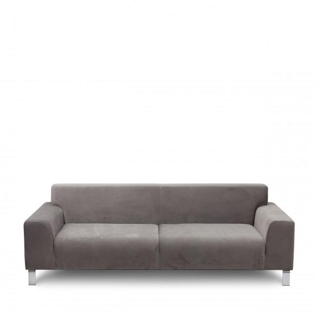 Canapé 2,5 places tissu et métal Duran
