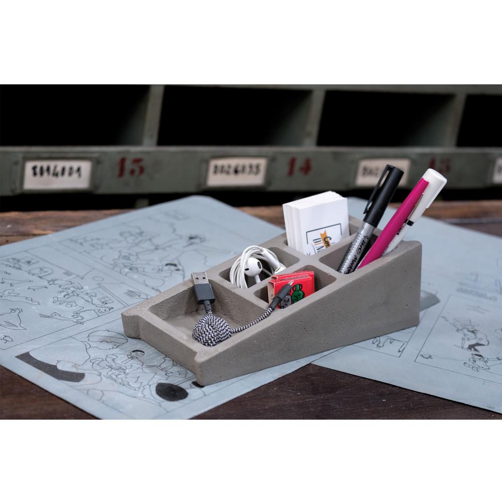 organiseur de bureau en b ton blockword drawer. Black Bedroom Furniture Sets. Home Design Ideas