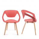 Lot de 2 chaises design scandinave Danwood blanche