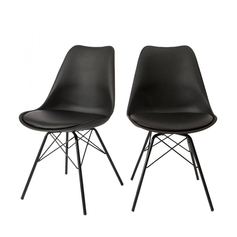 lot de 2 chaises design ormond light par. Black Bedroom Furniture Sets. Home Design Ideas
