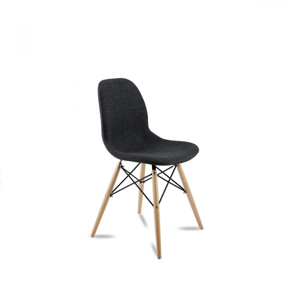 Chaise design en tissu style eames pied dsw doki doki soft for Pied chaise dsw