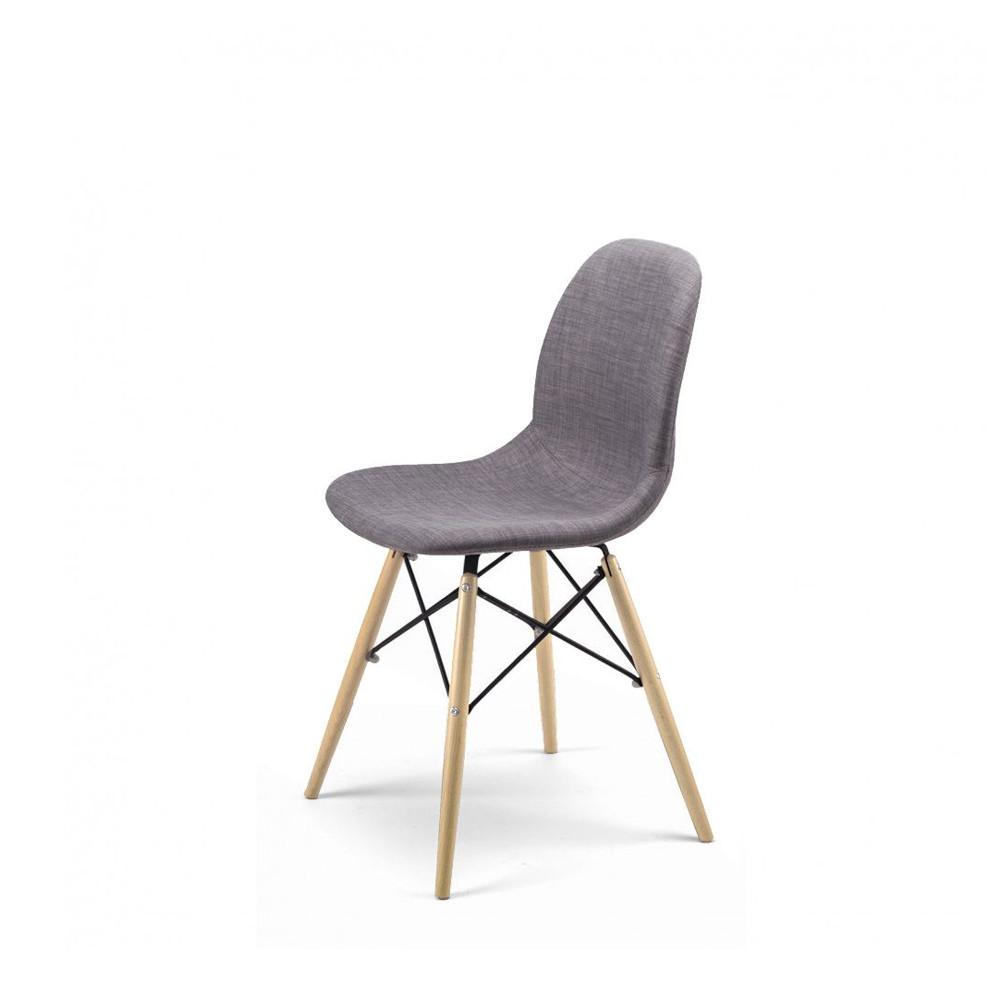 chaise design en tissu style eames pied dsw doki doki soft. Black Bedroom Furniture Sets. Home Design Ideas