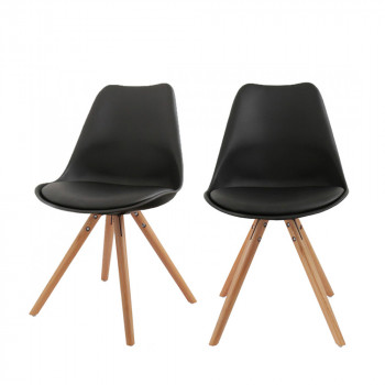 Lot de 2 chaises design Ormond Round noir