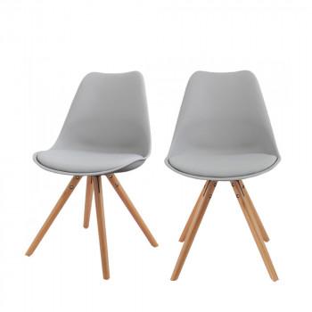 Lot de 2 chaises design Ormond Round noir