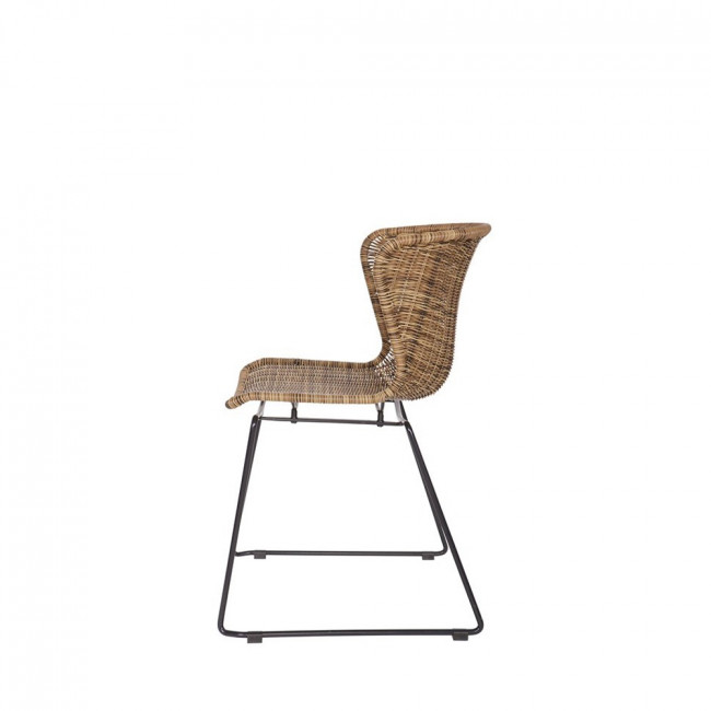 2x chaise en rotin tressé Wings naturel