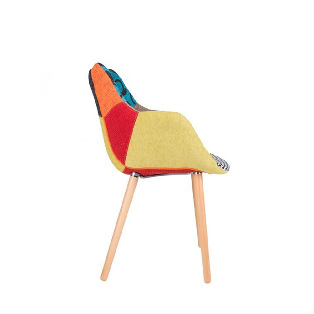 chaises lounge twelve patchwork capitonn es grises et. Black Bedroom Furniture Sets. Home Design Ideas