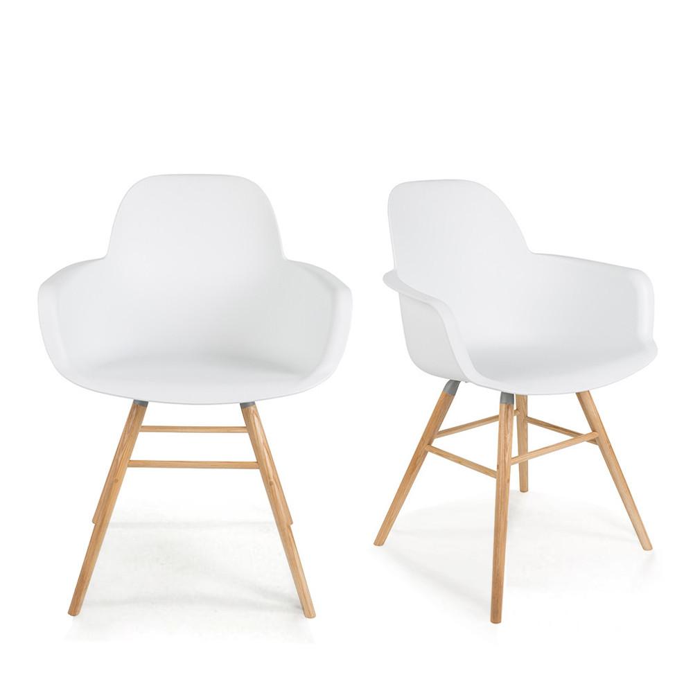 Albert Kuip 2 fauteuils de table en résine