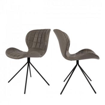 Lot de 2 chaises design OMG Skin
