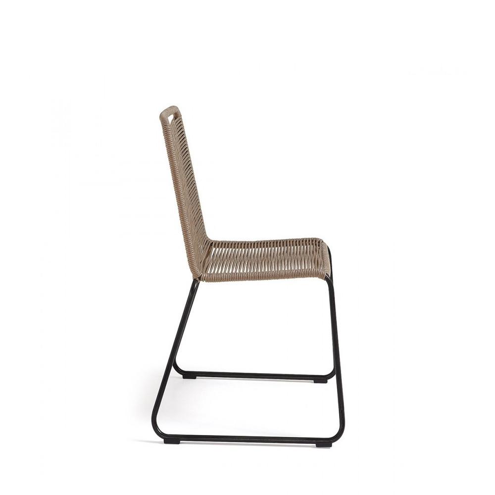 Chaise de jardin vintage en m tal et cordes amirah by for Chaise jardin metal