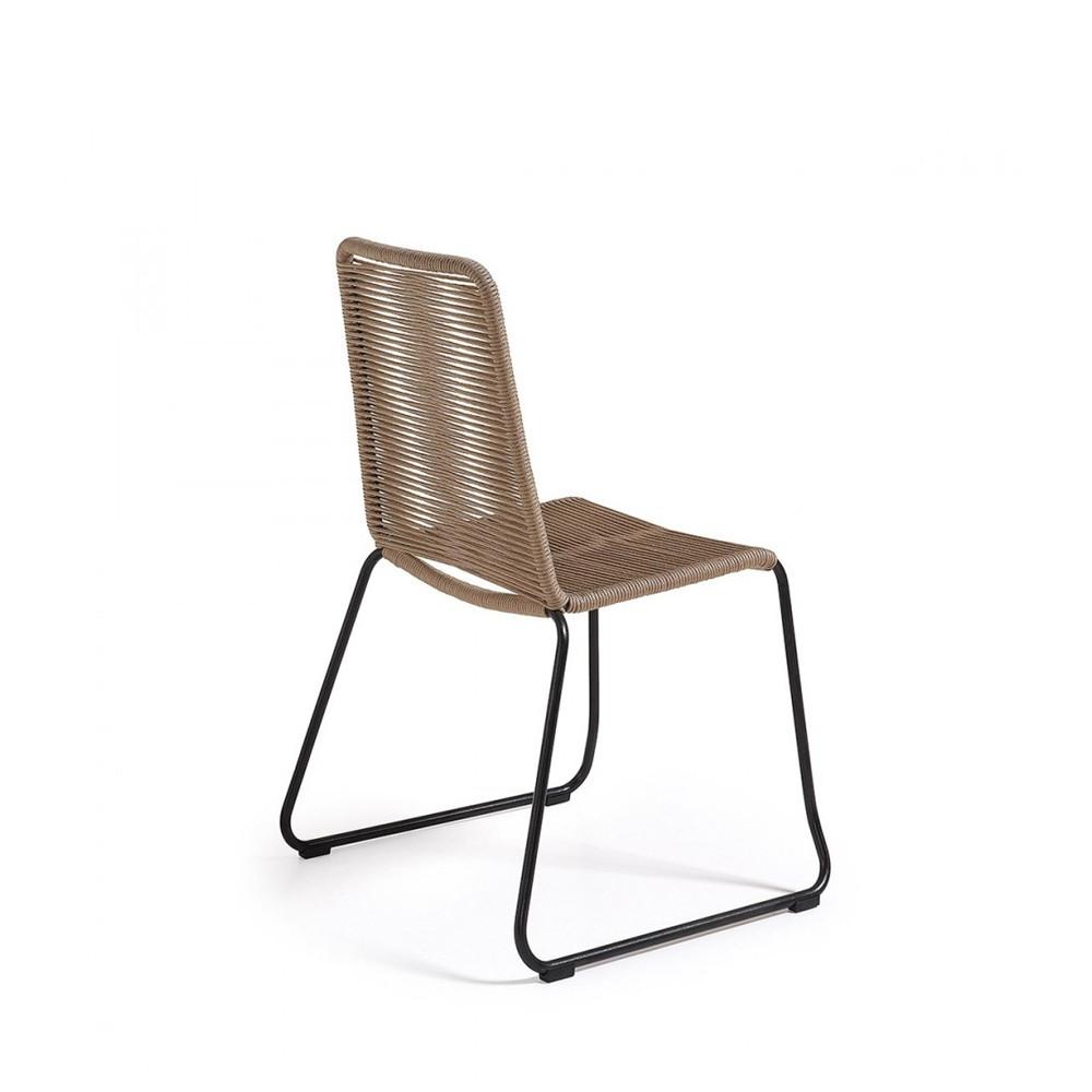 Chaise de jardin vintage en m tal et cordes amirah by for Lot chaise de jardin