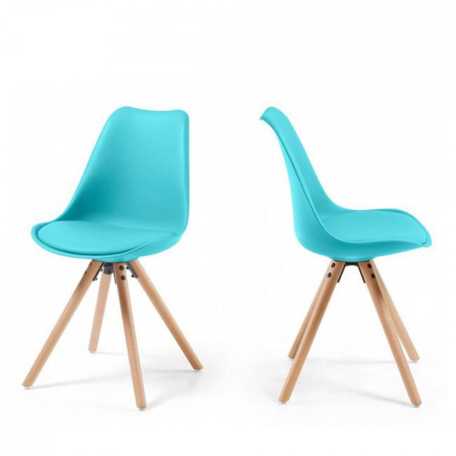 Lot de 2 chaises design grises Ralf Wood